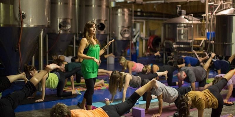 Bendy Brewski Yoga at Holy City Brewing