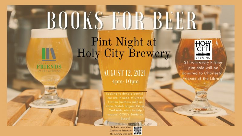 Books for Beer - Pint Night at Holy City Brewing