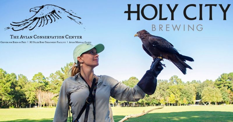 Taps and Talons at Holy City Brewing